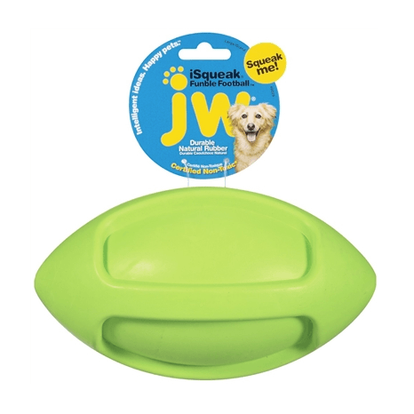 JW Pet ISqueak Funble Football Pet Toys JW Pet Lime