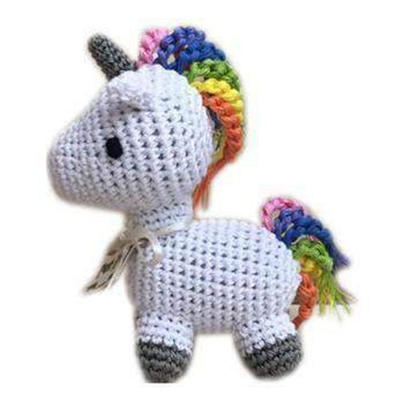 Knit Knacks Mystic the Magic Unicorn Small Dog Toy, Pet Toys, Furbabeez, [tag]