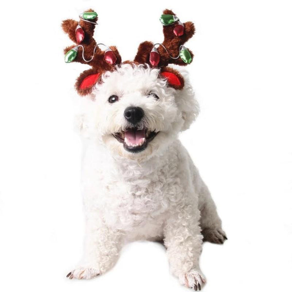 Light Up Reindeer Antlers Dog Hat Pet Accessories Rubie's Costumes