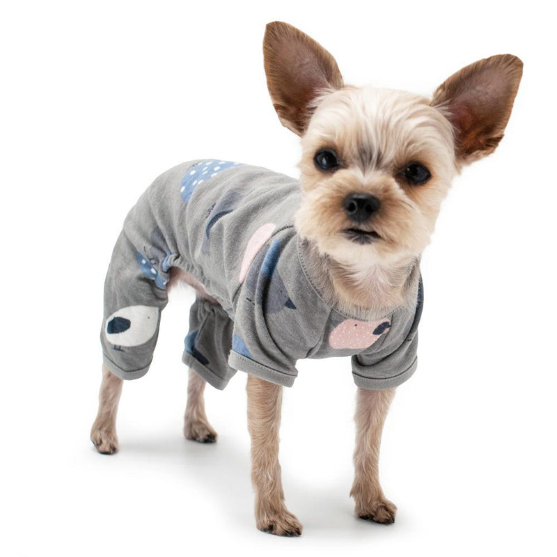 Little Birdy Dog Pajamas - Gray, Pet Clothes, Furbabeez, [tag]