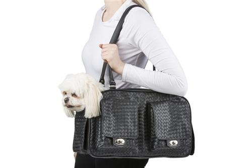 Marlee - Black Woven Stylish Dog Carrier Pet Accessories PETOTE