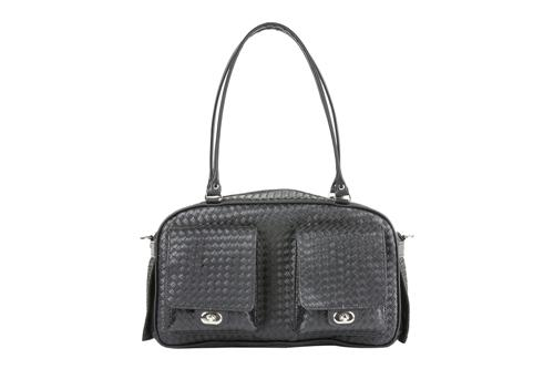 Marlee - Black Woven Stylish Dog Carrier Pet Accessories PETOTE Black