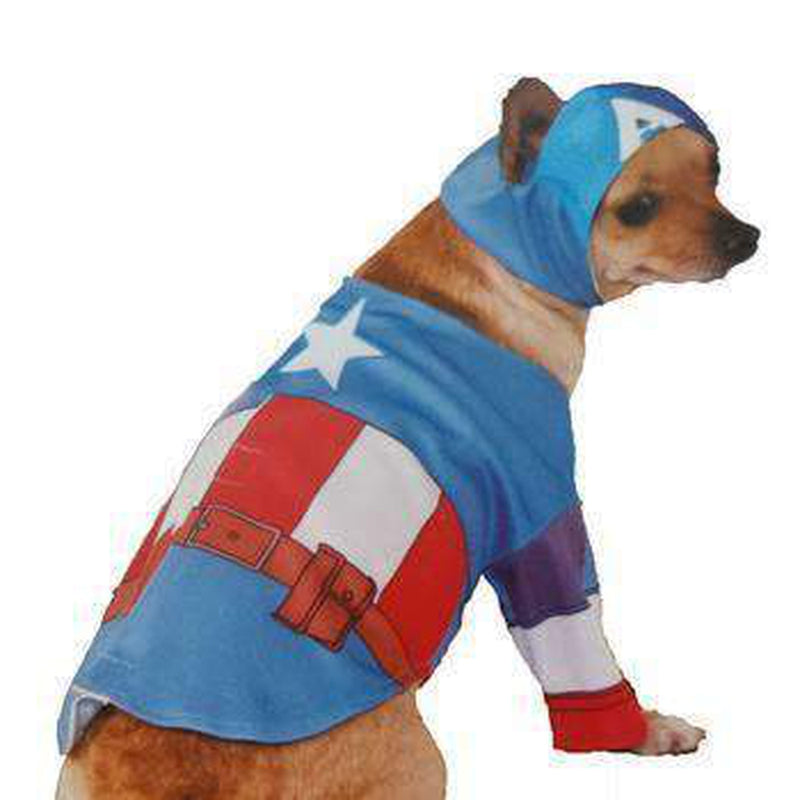 Marvel Captain America Dog Costume, Pet Clothes, Furbabeez, [tag]