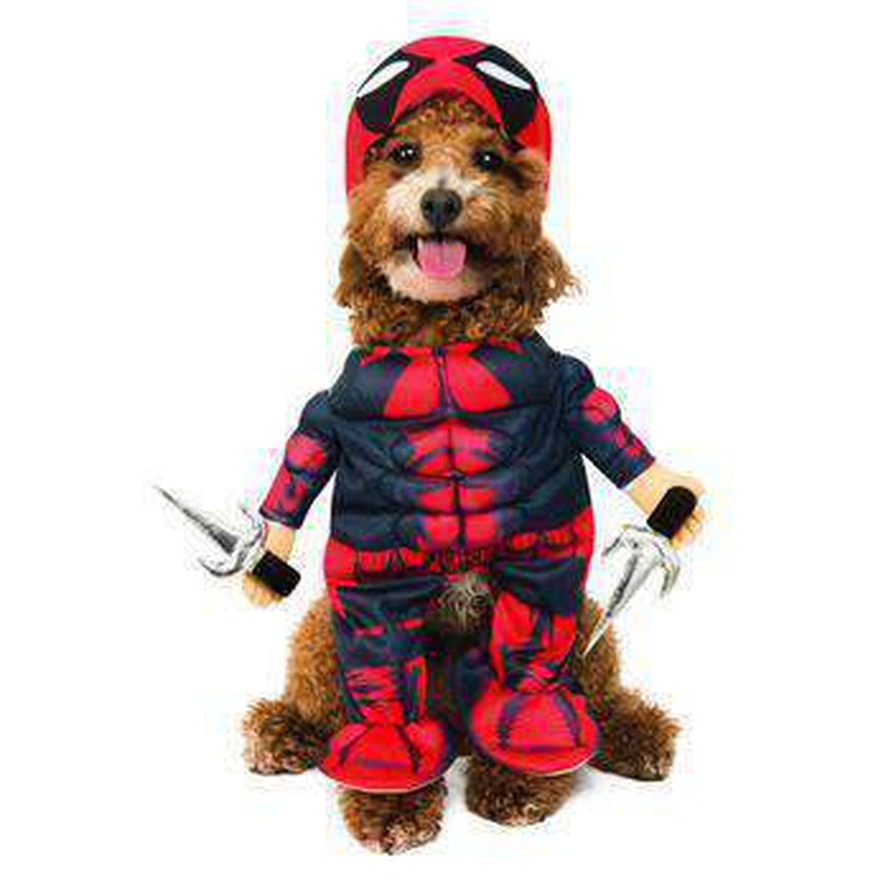 Marvel Walking Deadpool Dog Costume by Rubies Pet Clothes Rubie's Costumes