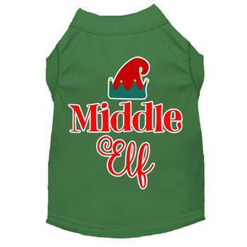 Middle Elf Christmas Dog T-Shirt - Green, Pet Clothes, Furbabeez, [tag]