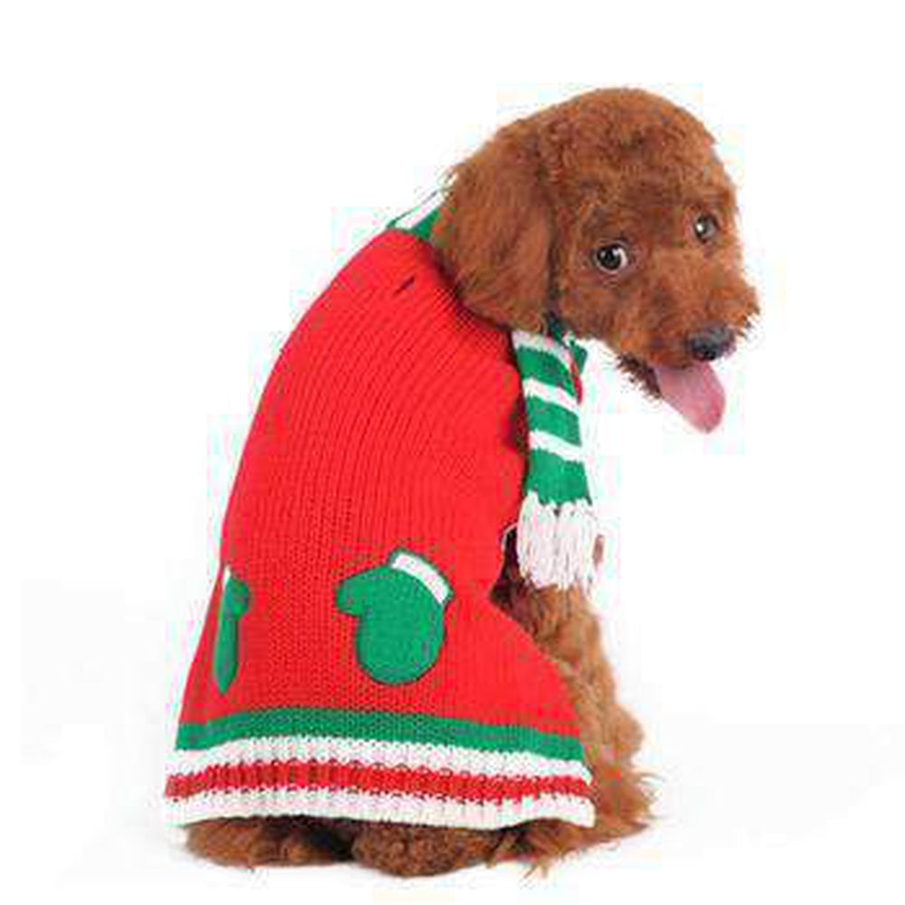 Mitten Scarf Dog Sweater, Pet Clothes, Furbabeez, [tag]