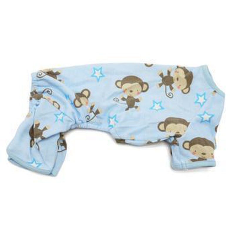 Monkey Dog Pajamas by Dogo - Blue, Pet Bed, Furbabeez, [tag]