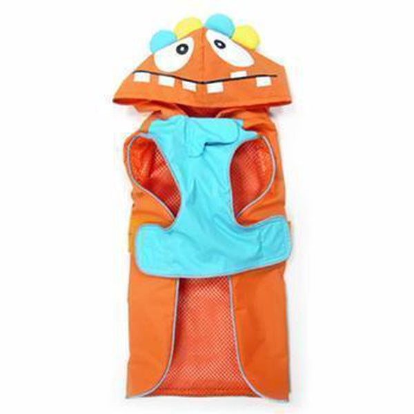 Monster Dog Raincoat - Orange, Pet Clothes, Furbabeez, [tag]