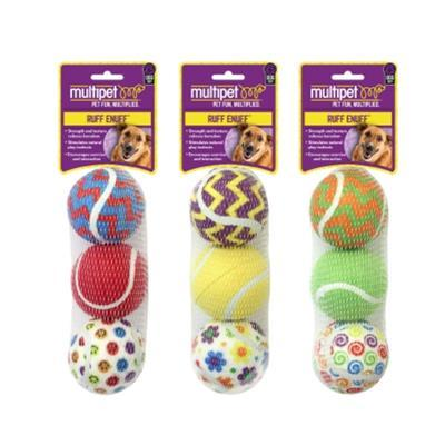 MulitPet DogTennis Ball 3-Pack Pet Toys MultiPet