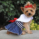 Sailor Dog Dress with Matching Leash Pet Clothes Doggie Design