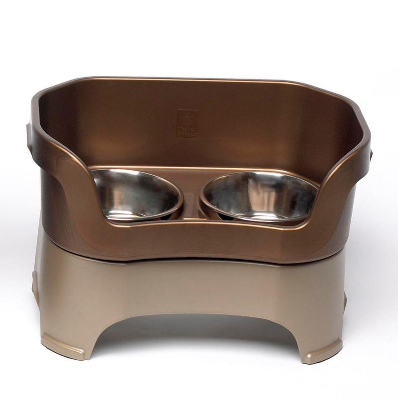 Neater Feeder Deluxe for Medium Dogs Pet Bowls Neater Feeder Brown