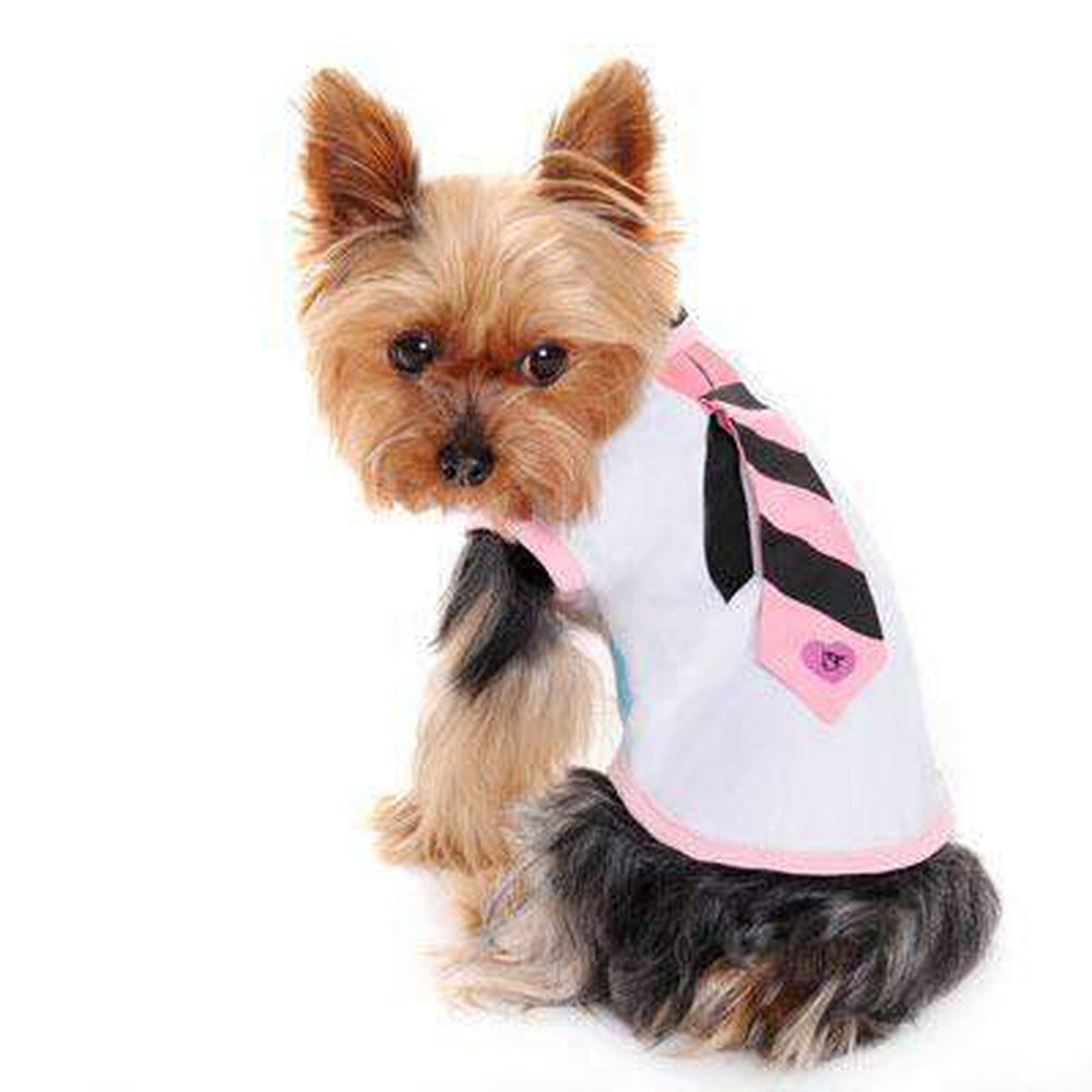 Necktie Dog Tank Top, Pet Clothes, Furbabeez, [tag]