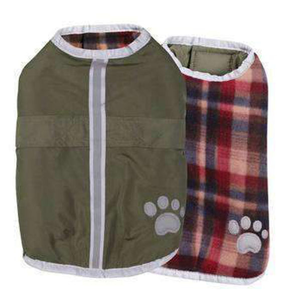 Nor'easter Dog Blanket Coat - Chive Pet Clothes Zack and Zoey