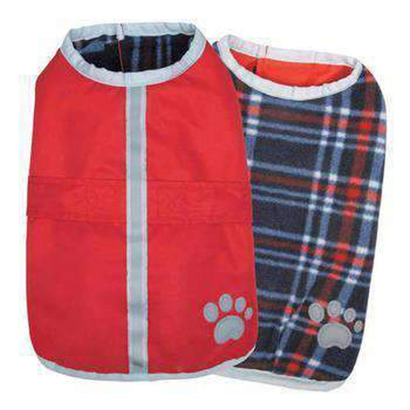 Nor'easter Dog Blanket Coat - Dark Red Pet Clothes Zack and Zoey