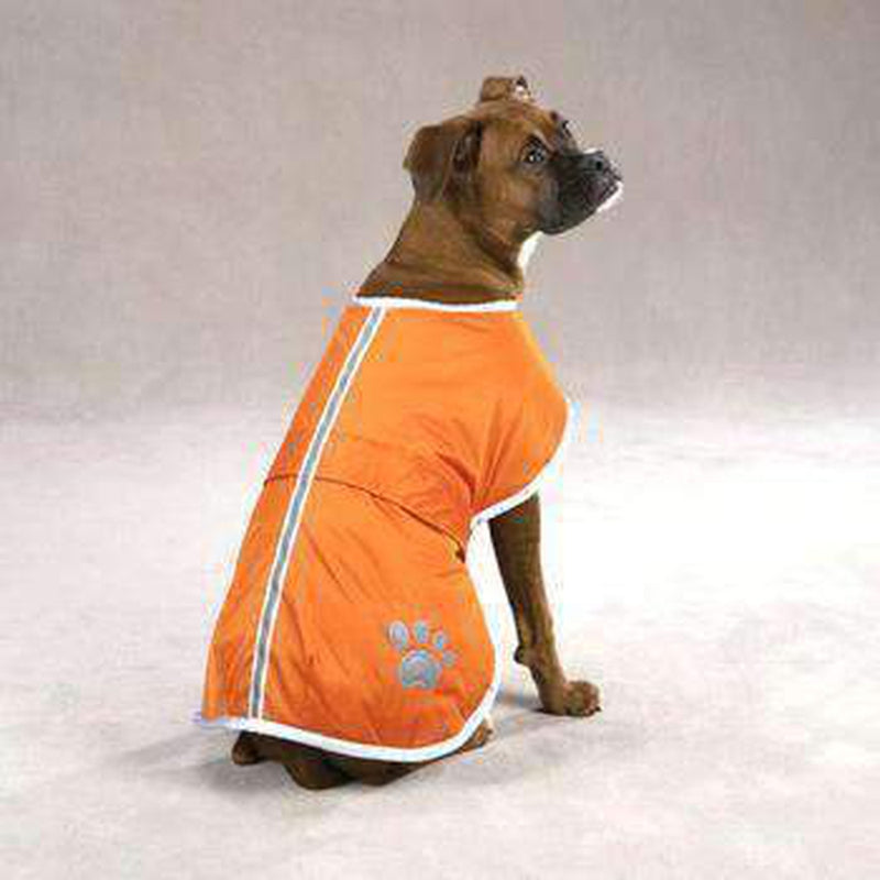 Nor'easter Dog Blanket Coat - Orange Pet Clothes Zack and Zoey