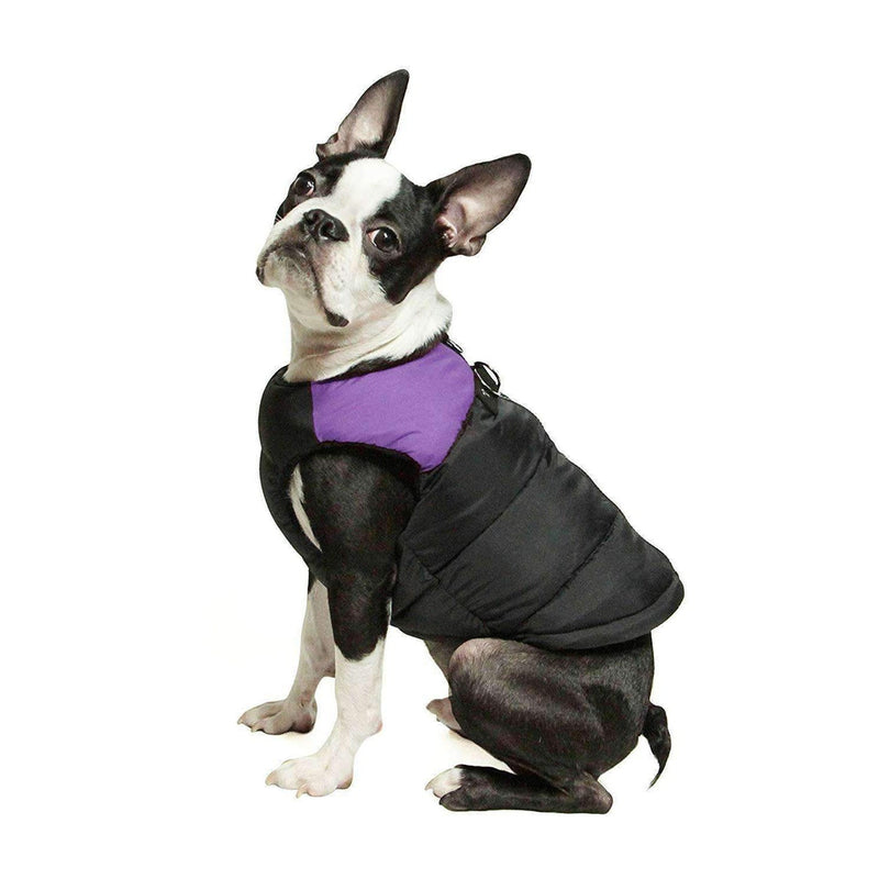 Padded Vest Dog Jacket by Gooby - Lavender Purple Pet Clothes Gooby Pet Fashions