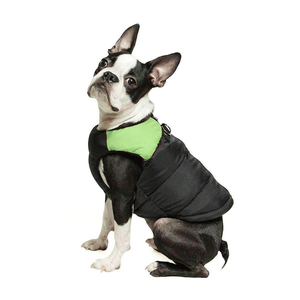 Padded Vest Dog Jacket by Gooby - Lime Green Pet Clothes Gooby Pet Fashions