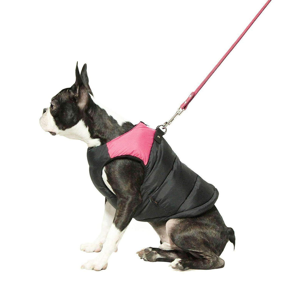 Padded Vest Dog Jacket by Gooby - Pink Pet Clothes Gooby Pet Fashions