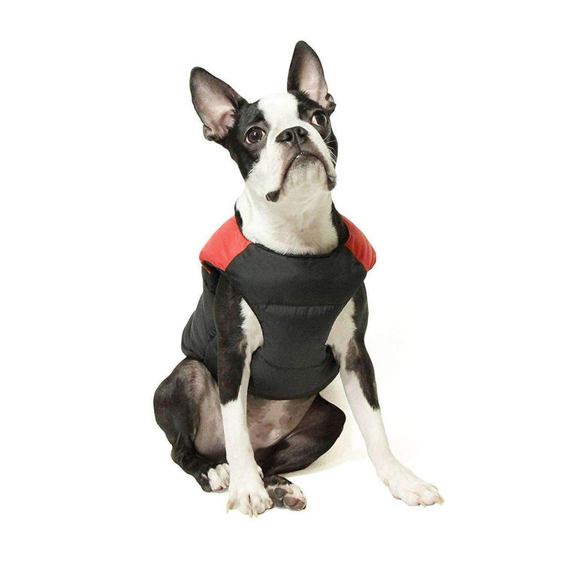 Padded Vest Dog Jacket by Gooby - Salmon Red Pet Clothes Gooby Pet Fashions