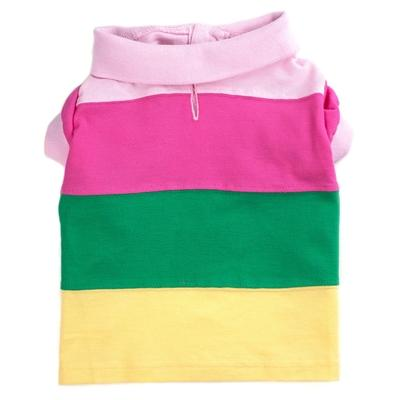 Pastel Colorblock Polo Dog Shirt Pet Clothes Worthy Dog