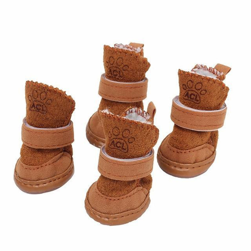 Pawgglys Dog Boots Pet Clothes Oberlo Brown 5