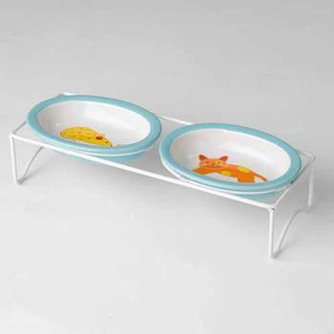 Pebbles Oval Cat Diner, Pet Bowls, Pet Retail Supply, Furbabeez