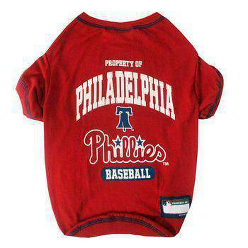 Philadelphia Phillies Dog T-Shirt - Red Pet Clothes MLB Dogs, Pets First