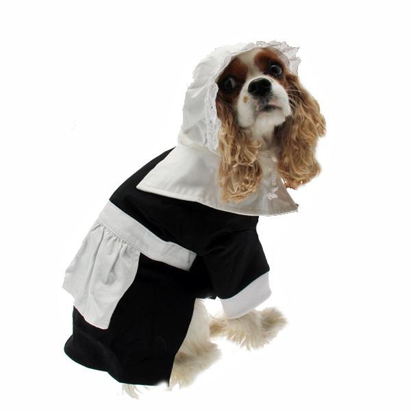 Pilgrim Girl Dog Costume Pet Clothes Puppe Love