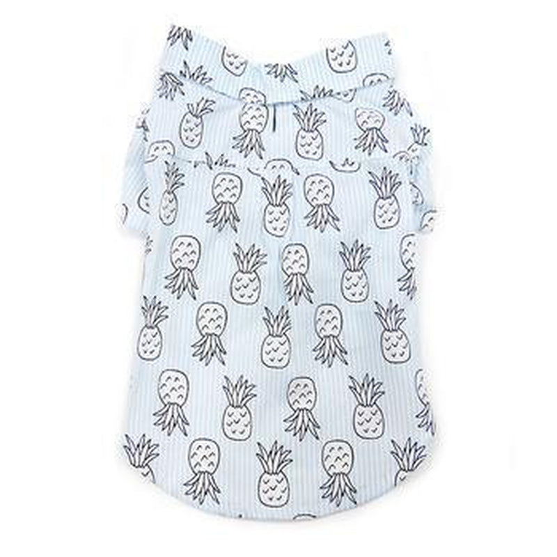 Pineapple Island Dog Shirt - Light Blue, Pet Clothes, Furbabeez, [tag]