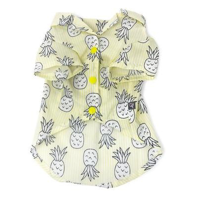 Pineapple Island Dog Shirt - Yellow, Pet Clothes, Furbabeez, [tag]
