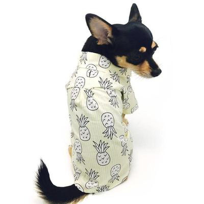 Pineapple Island Dog Shirt - Yellow Pet Clothes DOGO
