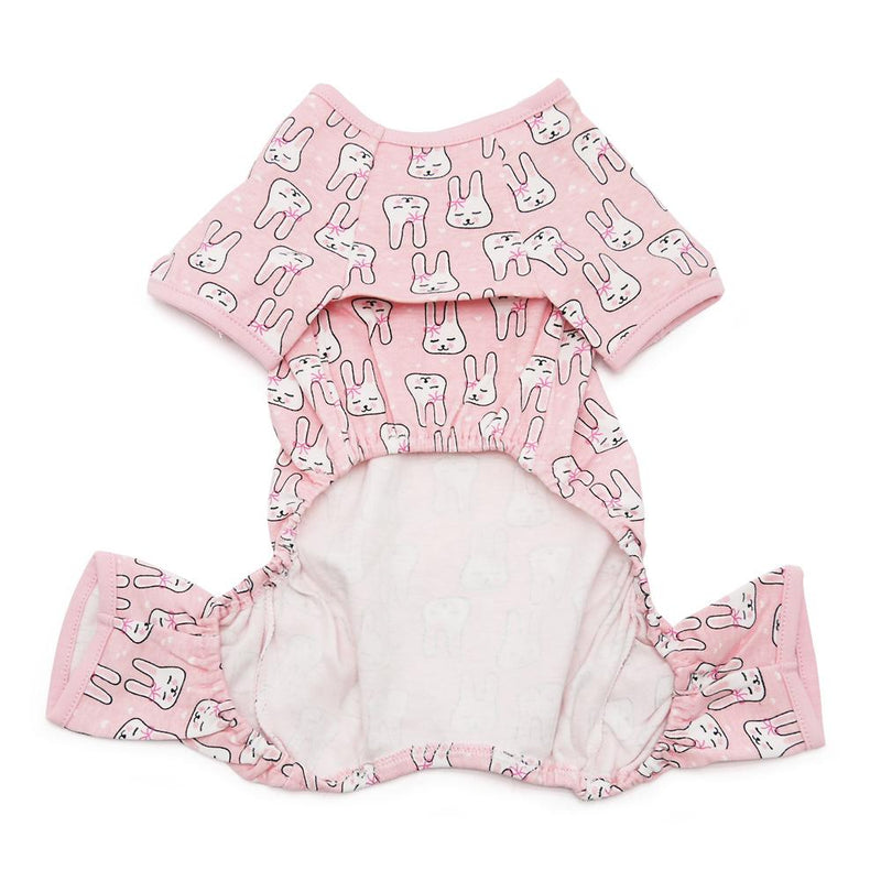Pink Bunny Dog Pajamas Pet Clothes DOGO
