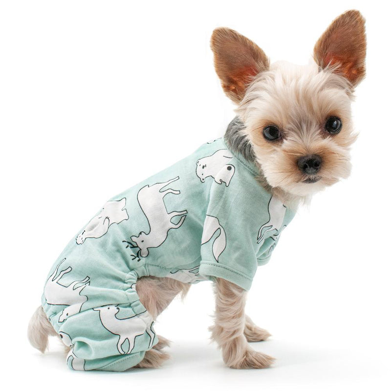 Polar Bear Dog Pajamas, Pet Clothes, Furbabeez, [tag]
