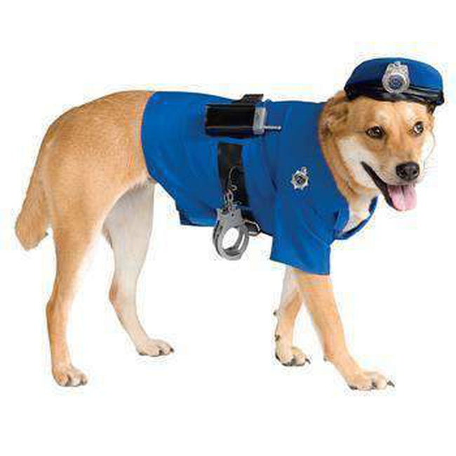 Police Dog Halloween Costume Pet Clothes Rubie's Costumes