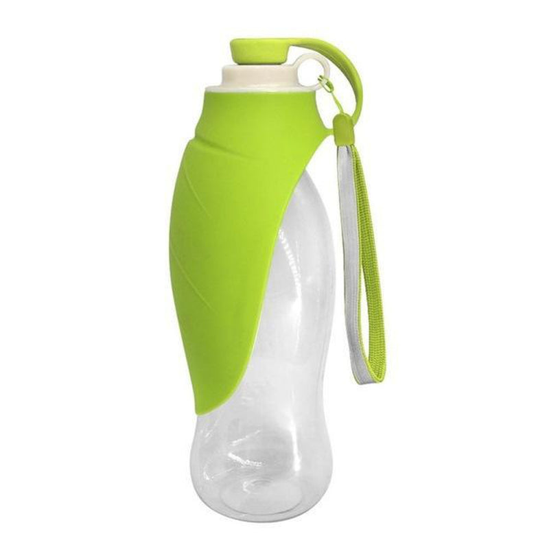 Portable Dog Water Bottle - Expandable Silicone Pet Bowls Oberlo US Green