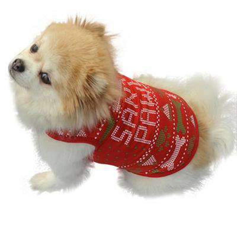 Red Christmas Bones Santa Paws Dog Tank Pet Clothes Oberlo