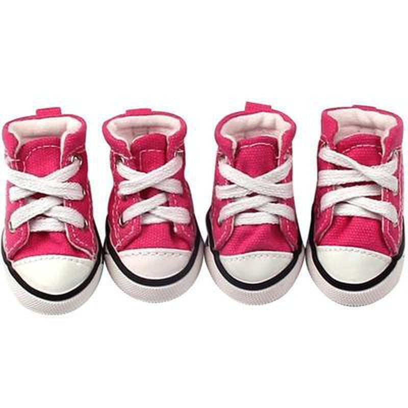 Converse Dog Shoes - Pink Denim, Pet Clothes, Furbabeez, [tag]