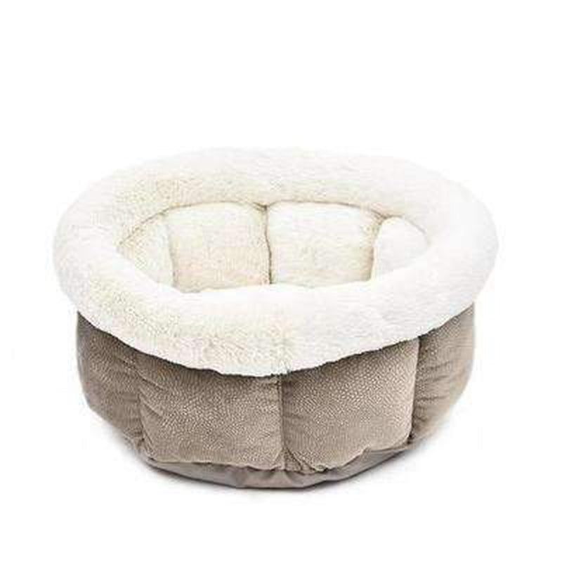 Soft Snuggle Dog Bed Pet Bed Oberlo Taupe