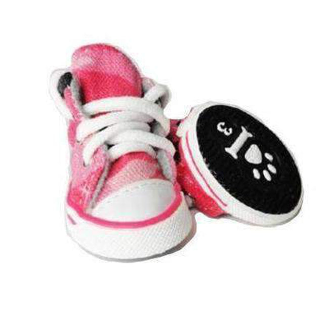 Converse Dog Shoes - Pink Denim Camo Print, Pet Clothes, Furbabeez, [tag]