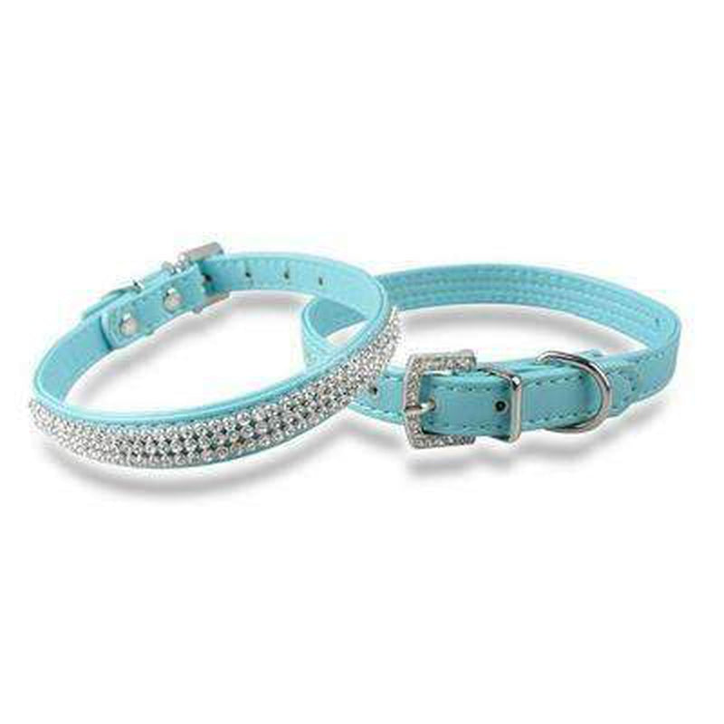 Rhinestone Pet Collar Collars and Leads Oberlo Blue Small