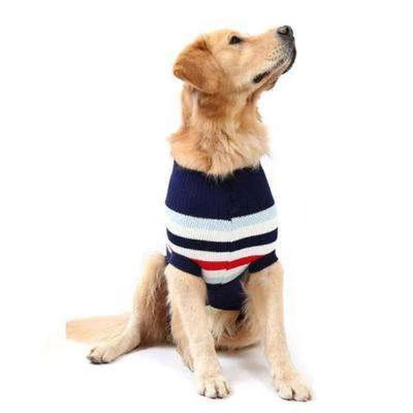 Striped Knit Dog Sweater, Pet Clothes, Furbabeez, [tag]