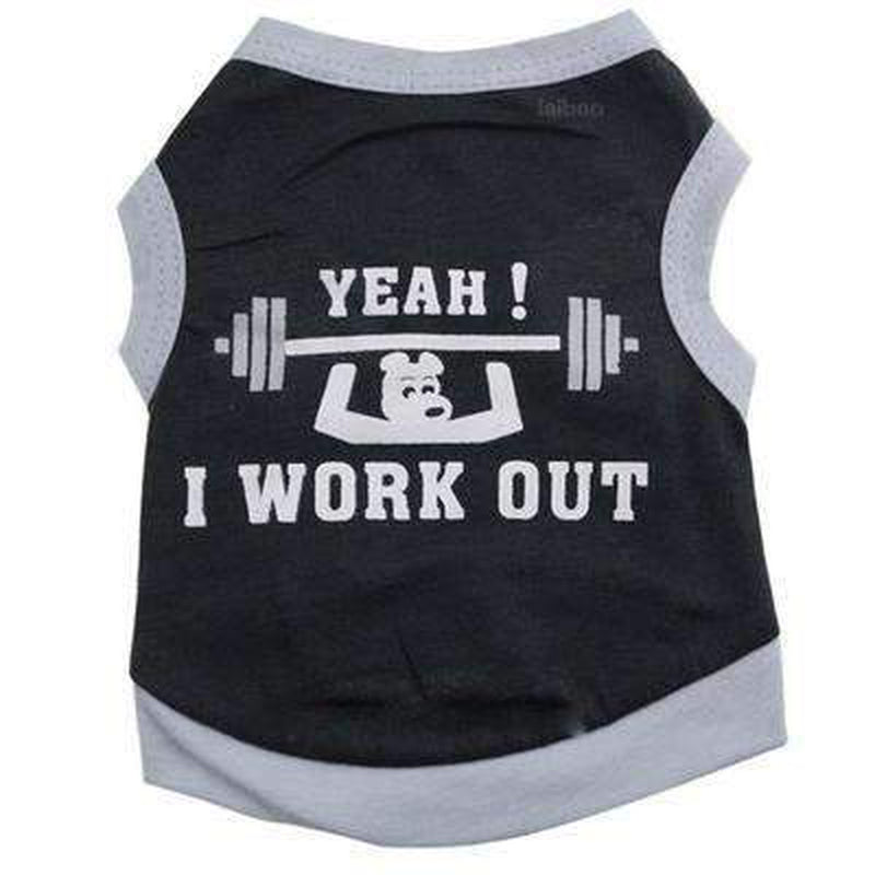 I Work Out Dog Tank, Pet Clothes, Furbabeez, [tag]