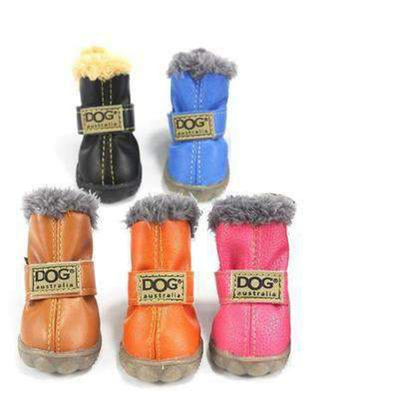 Waterproof Dog Ugg Boots - Brown, Black, Pink, Blue Pet Clothes Oberlo