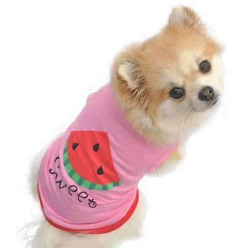 Puppy Watermelon Printed Pink Tank Pet Clothes Oberlo