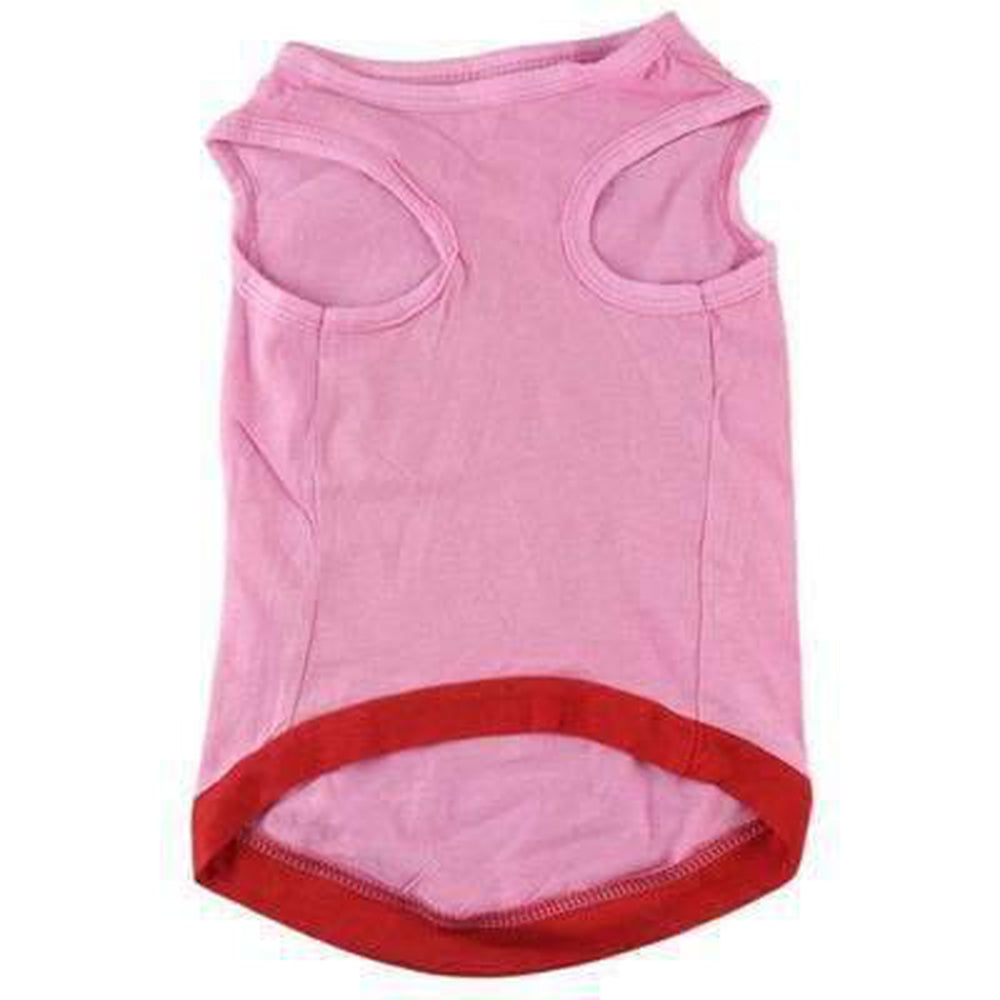 Puppy Watermelon Printed Pink Tank, Pet Clothes, Furbabeez, [tag]