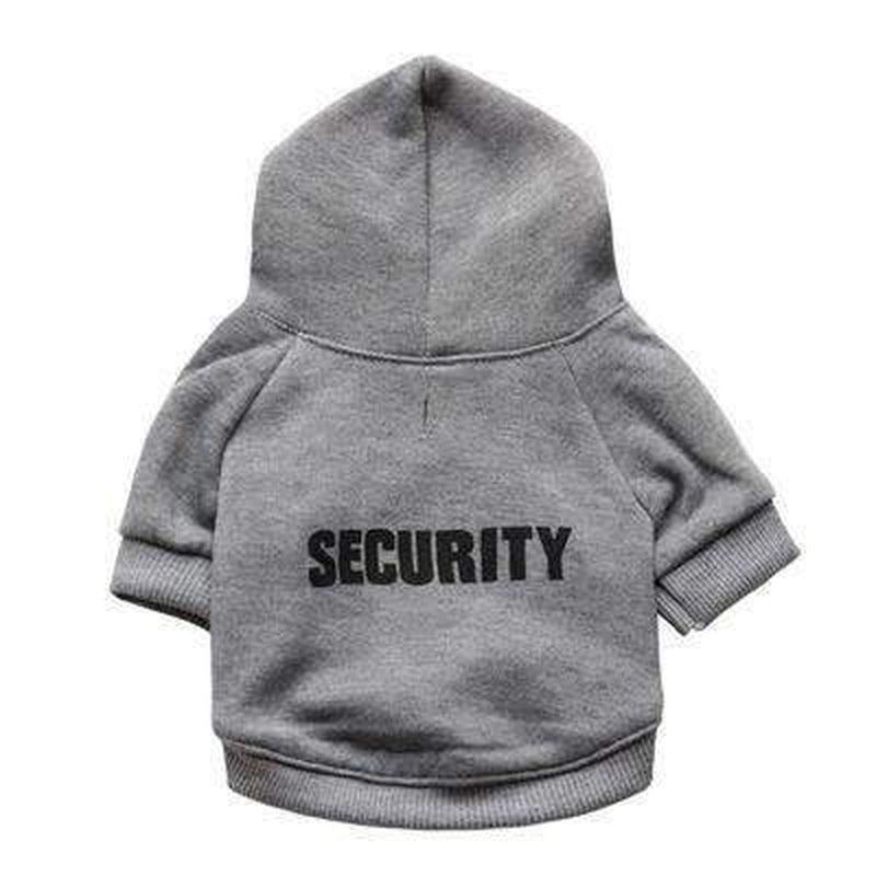 Security Dog Hoodie Pet Clothes Oberlo
