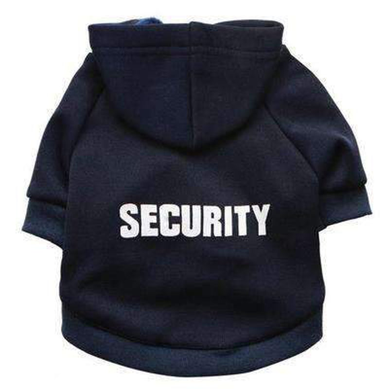 Security Dog Hoodie Pet Clothes Oberlo Navy Blue XS