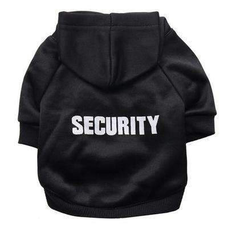 Security Dog Hoodie Pet Clothes Oberlo Black XS