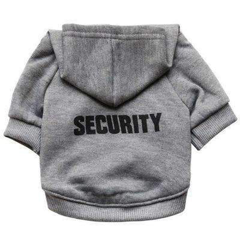 Security Dog Hoodie Pet Clothes Oberlo Gray XS