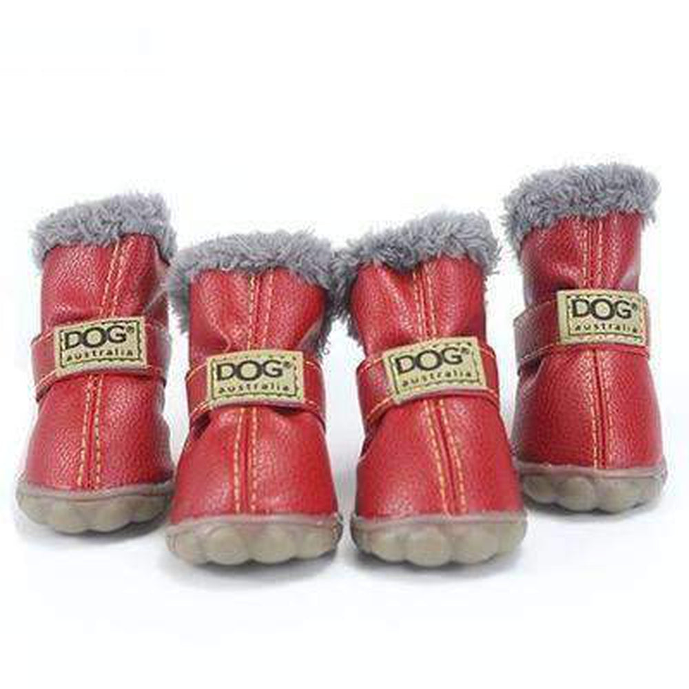 Waterproof Dog Ugg Boots - New Colors Pet Clothes Oberlo Red 1